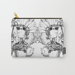 Flowered ATST Black and White Carry-All Pouch