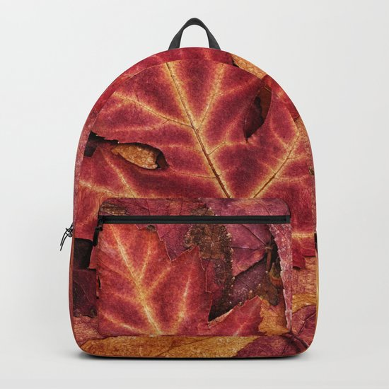 Colorful Autumn Maple Leaf Indian Summer Red Backpack