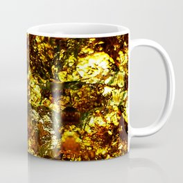 Solid Gold - Abstract, metallic gold textured pattern Coffee Mug