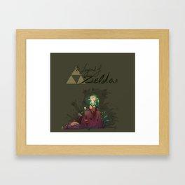 Link! Framed Art Print