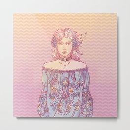 Kikazaru Sister Metal Print
