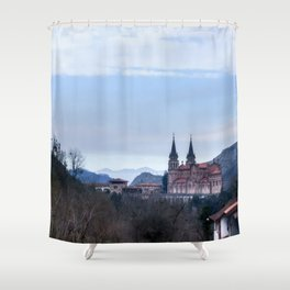Basilica of Covadonga in the mountains, Spain Shower Curtain