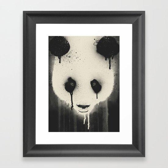 PANDA STARE Framed Art Print