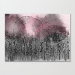 Pinky Winter Night Canvas Print