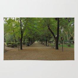 Passeggiata per Villa Borghese Rug