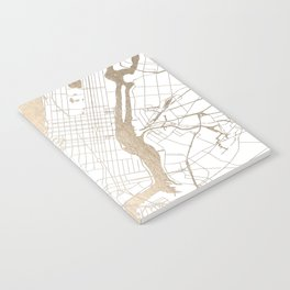 New York City White on Gold Notebook