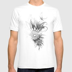 bee White Mens Fitted Tee MEDIUM