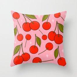 Cherries on Top Throw Pillow
