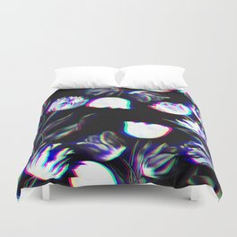 Bed of Tulips (B&W) Duvet Cover