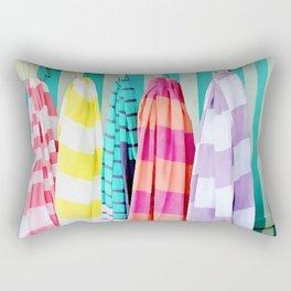 Stripe Beach Towel Rectangular Pillow