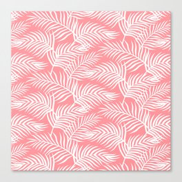 Palm Leaves_Pink Canvas Print