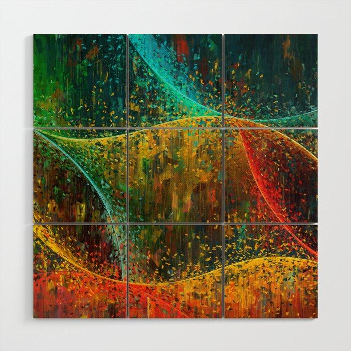 Abstract Curves Wood Wall Art