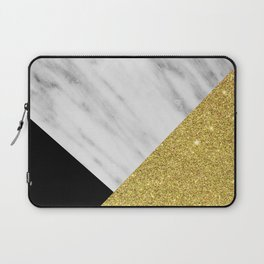 Marble & Gold Geometry Laptop Sleeve