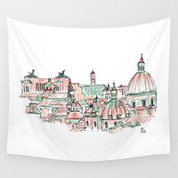 rome Wall Tapestries featuring Rome by Ursula Rodgers