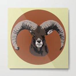 Goat is Watching You Metal Print