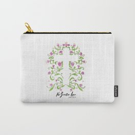 No Greater Love Floral Cross Carry-All Pouch