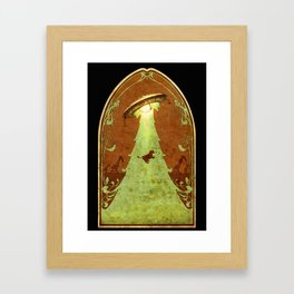 UFO Christmas Framed Art Print