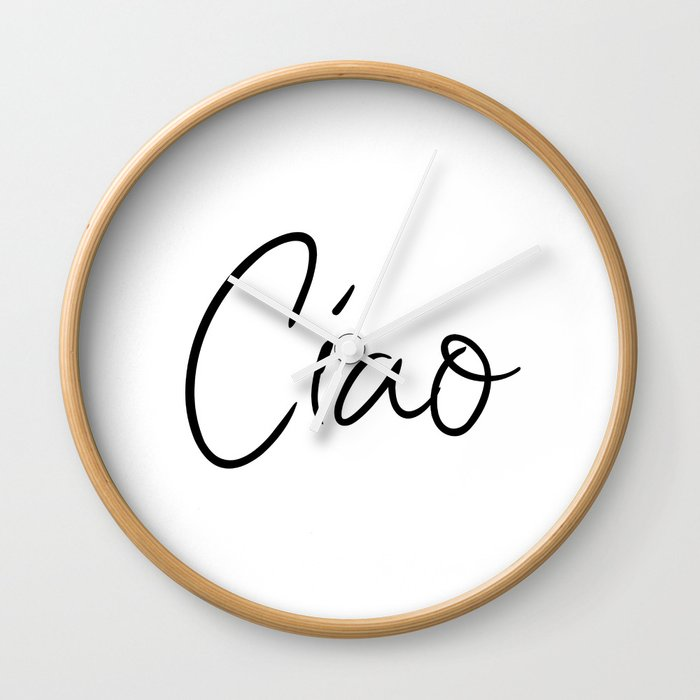 Ciao printable art italian greeting typography art hello goodbye ciao printable art italian greeting typography art hello goodbye italian art wall clock m4hsunfo