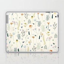 Vintage Inspired Wildflower Print Laptop & iPad Skin
