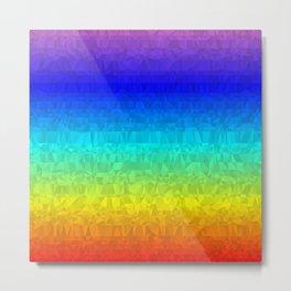 Rainbow - Flipped Metal Print