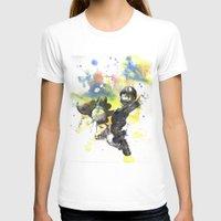 luigi T-shirts featuring Luigi Riding Yoshi by idillard