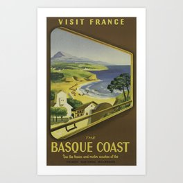 Vintage Travel Poster - French National Railroads - Vintage France Travel Poster Art Print