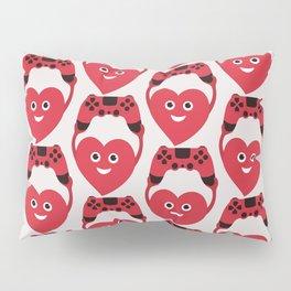 Gaming Heart Pillow Sham