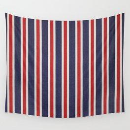 De rayas azules y rojas Wall Tapestry