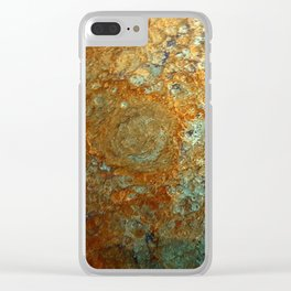 Celestial Tide Clear iPhone Case