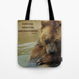 In Deep Thought   - Grizzly Bear Tote Bag