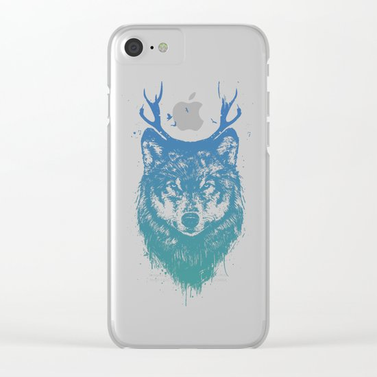 Deer wolf Clear iPhone Case