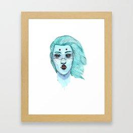 Her eyes Framed Art Print