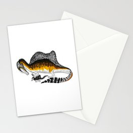Spinosaurus mother and juvenile Stationery Cards