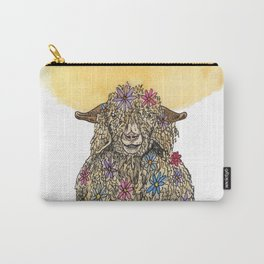 Flower Goat Carry-All Pouch
