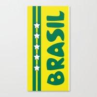 brazil Canvas Prints featuring Brazil by Kristine Redillas