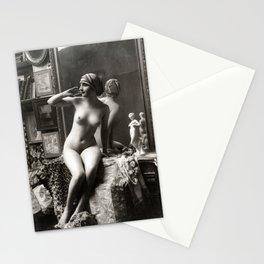 Vintage Nude Art Study R15 Lady In Headwear Stationery Cards