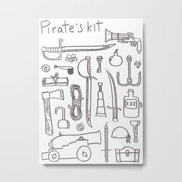 Pirate's Kit Metal Print