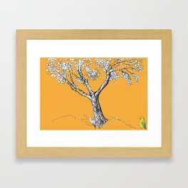 Tree and parrot Framed Art Print