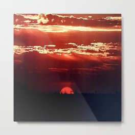 Burning Southern Setting Sun Metal Print