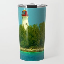 Lighthouse by the Ocean Travel Mug