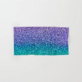 Lavender Purple & Teal Glitter Hand & Bath Towel