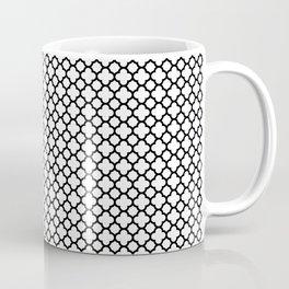 Quatrefoil Black and White Coffee Mug