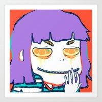 Drippy Eye Slice Art Print
