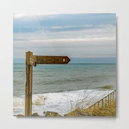 Norfolk Coastal Path Metal Print