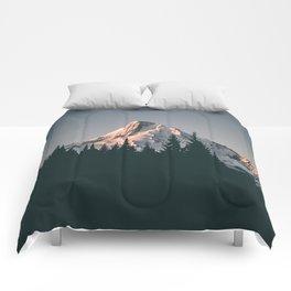 First Light on Mount Hood Comforters