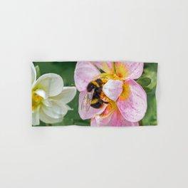 bee on pink flower Hand & Bath Towel