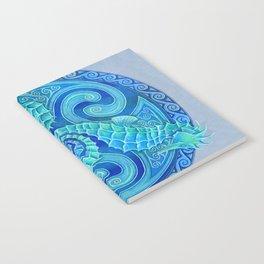 Seahorse Triskele Celtic Blue Spirals Mandala Notebook
