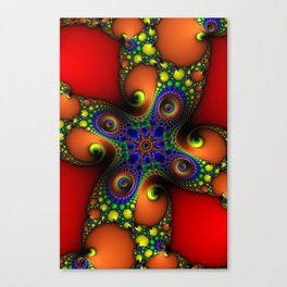 Spirals Of Chaos Psychedelic Fractal Art Canvas Print