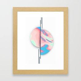 Neon World Framed Art Print