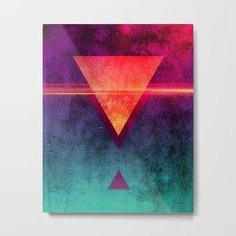 Triangle Triad [Neon Gloom Variant] Metal Print
